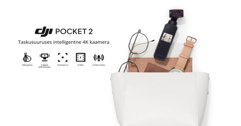 Stabiliseeritud sensoriga pisike 4K kaamera DJI Pocket 2 on nüüd müügil