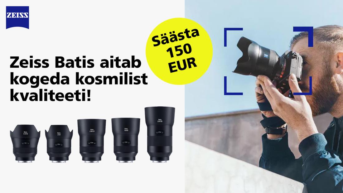Zeiss Batis objektiivid Sonyle