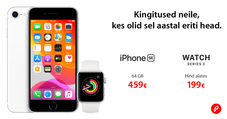 Häid jõule, paremaid kinke – Apple iPhone SE ja Watch 3 on jõuluhinnaga