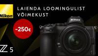 Astu täiskaader kaamerate maailma - Nikon Z 5 on 250€ soodsam