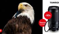 Tamron 70-300mm f/4.5-6.3 Di III RXD on -50€ ja ostul kaasa väärt kingitus