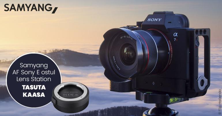 Sony hübriidkaameratele sobiva Samyang AF objektiivi ostul saad väärt kingituse