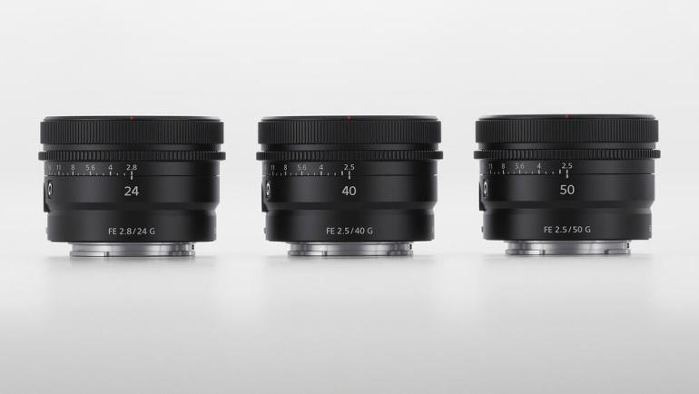 Sony tutvustas kolme uut fiksobjektiivi, mis on väikesed aga võimekad