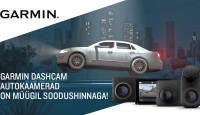 Kõik Garmin Dash Cam seeria autokaamerad on müügil soodushinnaga