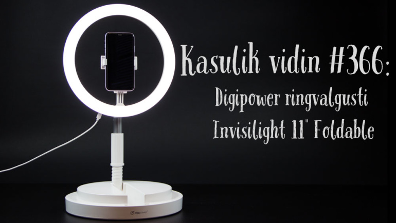 "Kasulik vidin #366: Digipower ringvalgusti Invisilight 11"" Foldable"