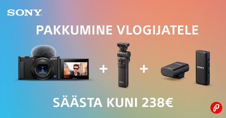 Sony ZV-1 vlogkaamera erikomplektid on müügil soodushinnaga