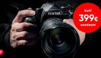 SUVEDIIL: Pentax peegelkaamerate lipulaeva K-1 II on 100€-399€ soodsam