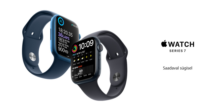 Ihaldusväärne Apple Watch Series 7 nutikell panustab suurusele