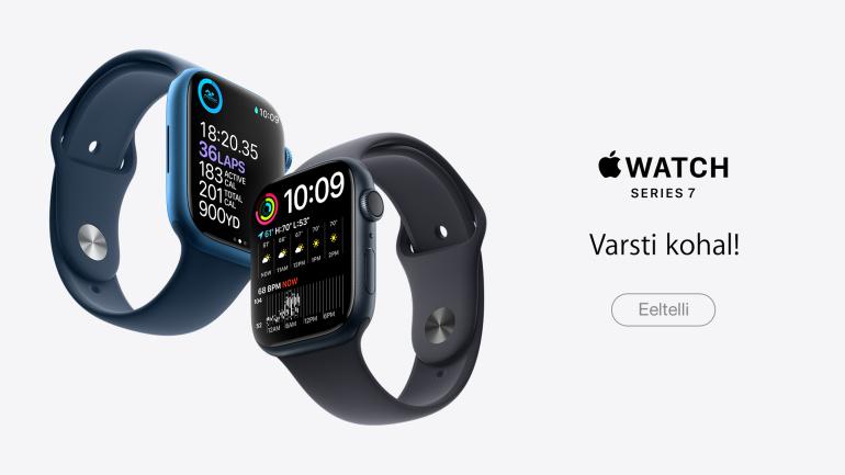 Eeltelli endale ihaldusväärne uus Apple Watch Series 7 nutikell