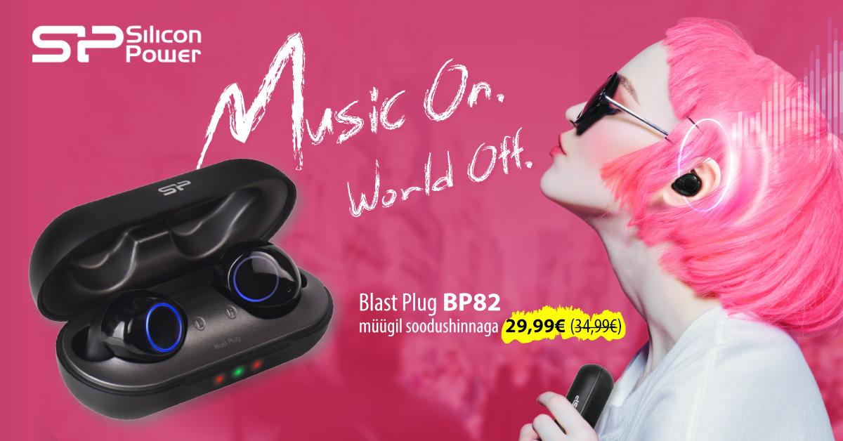 Silicon Power juhtmevabad kõrvaklapid Blast Plug BP82 BT